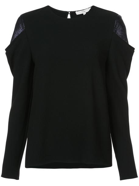 Tibi blouse women black top