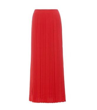 skirt maxi skirt maxi pleated silk red