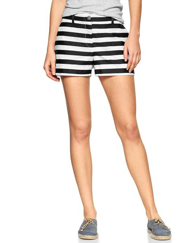 gap sunkissed stripe shorts black stripe womens shorts 981650000