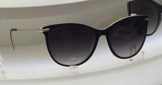 sunglasses black sunglasses black black and gold girly