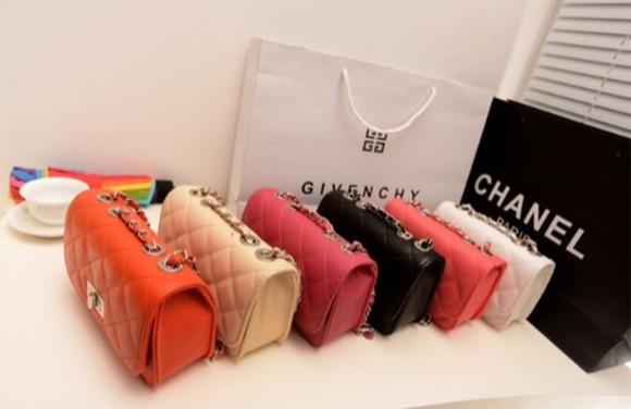 bag orange color: black off-white rose red dark pink