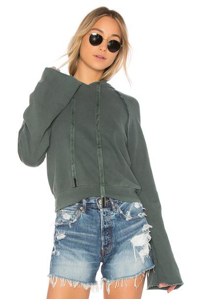 Stateside hoodie green sweater