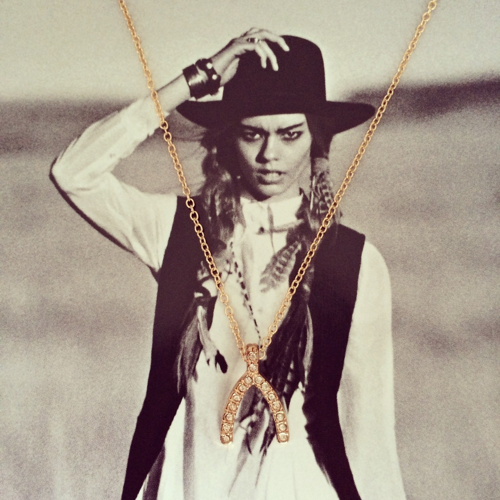 The wishbone necklace / curated