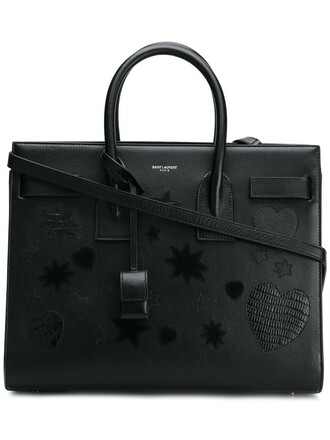 women leather black bag