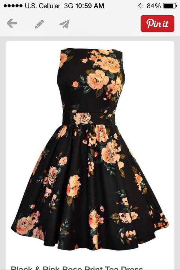 dress floral roses