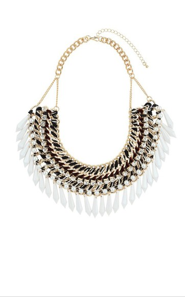 topshop white gold jewels gold jewels plastron