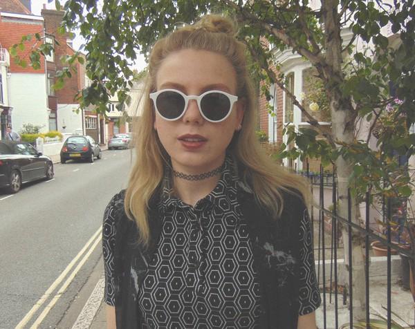 the velvet black grunge blogger sunglasses