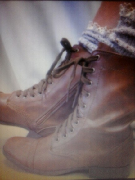 shoes combat boots brown combat boots tie up shoes