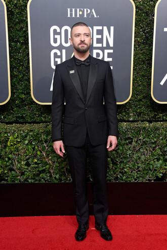 jacket blazer suit all black everything menswear mens suit mens shirt justin timberlake golden globes 2018