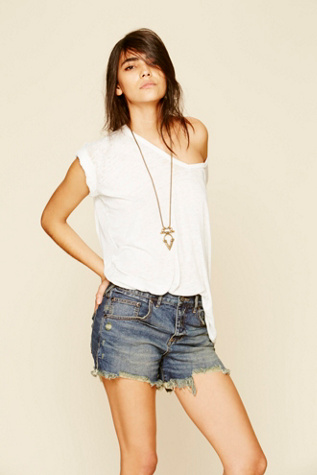 free people womens fp denim cut off shorts