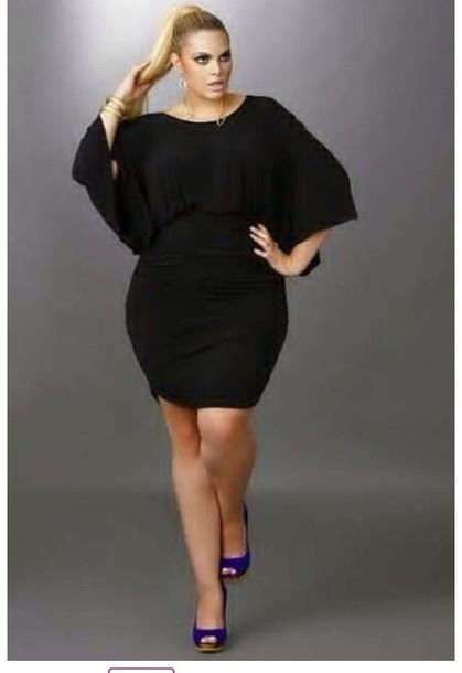 94d39c8fd1bf dress little black dress short black wide large large style cap sleeves