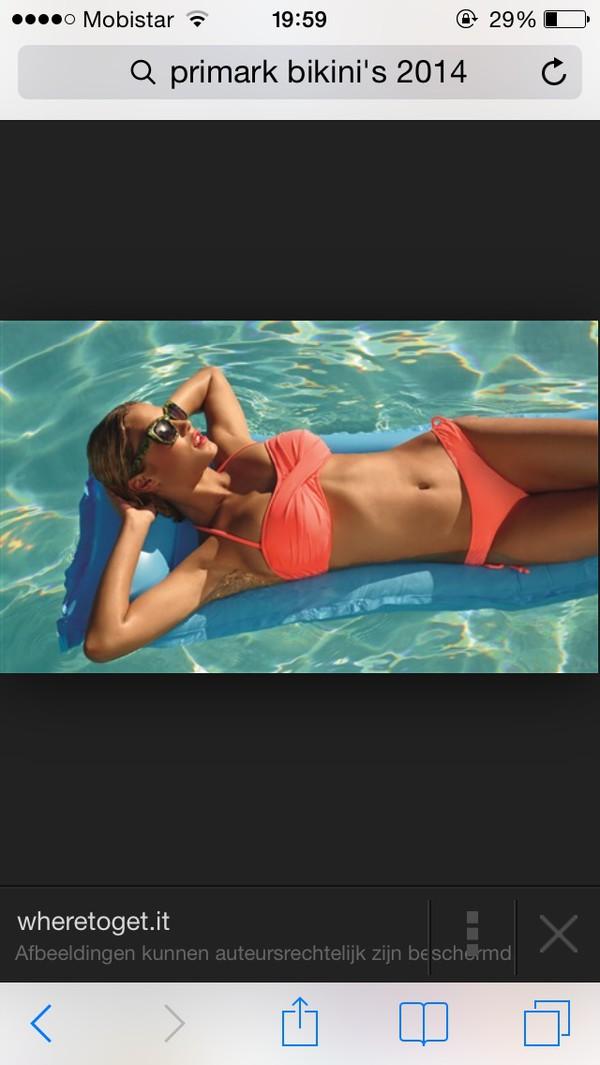swimwear orange beyonce