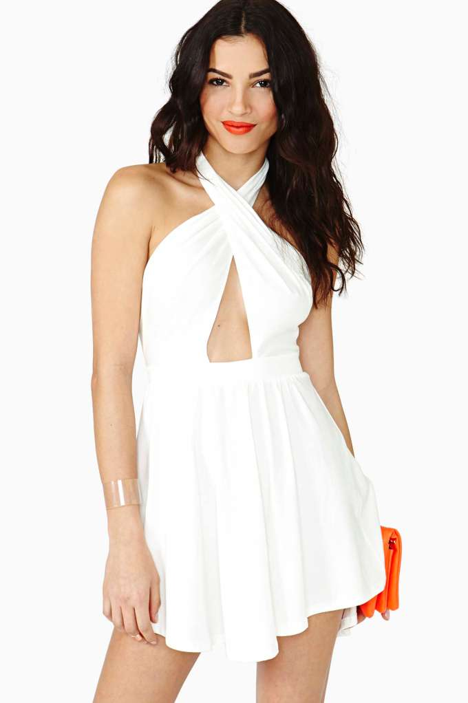Nasty Gal Summer Heat Halter Dress  in  Clothes Dresses at Nasty Gal