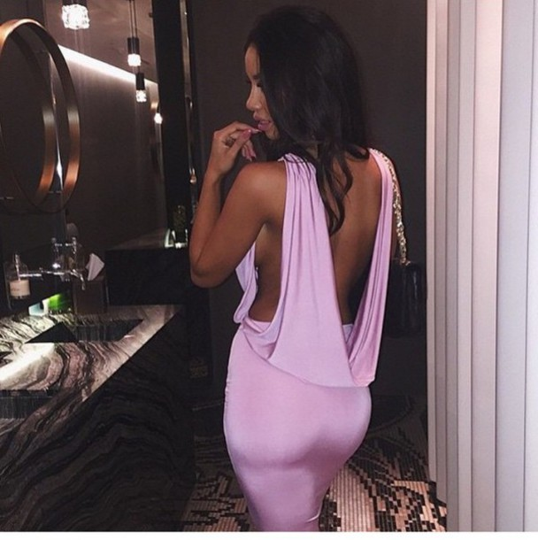 dress lilac bodycon shopping dress hot tanned dress backless lavender/lilac blouse