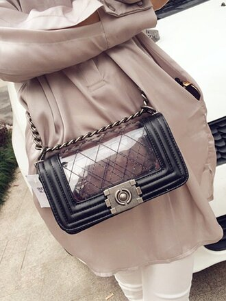 bag girl girly style girly wishlist shoulder bag see through