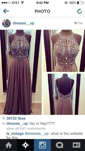 dress long prom dress beaded prom dress classy classy dress amazing look