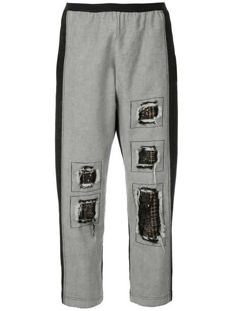 Antonio Marras jeans women spandex cotton wool grey