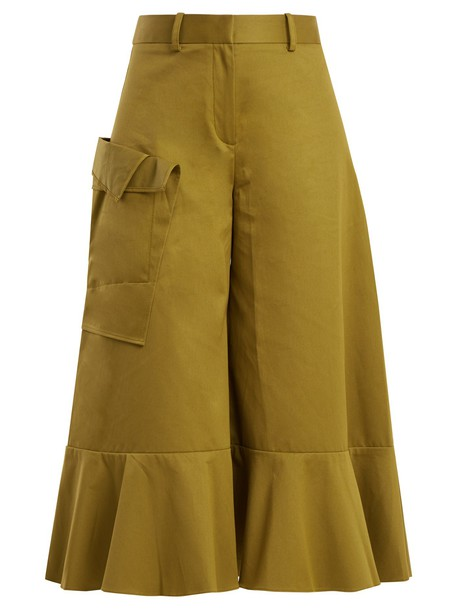 PALMER/HARDING culottes cotton green pants