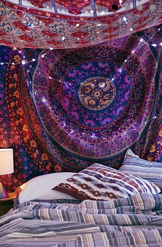 scarf tapestry indie swag grunge soft grunge tumblr urban outfitters purple wall hanging bedrooms alternative style fashion boho hippie trippy lovely pepa summer outfits fall outfits winter outfits tapestr pattern native american home accessory