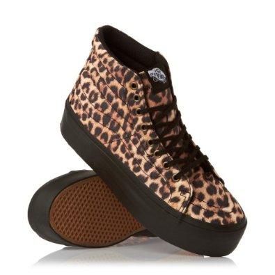 Vans Sk8 Hi Platform (Leopard) Black/Black - Damen: Amazon.de: Schuhe &  Handtaschen