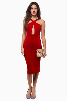 In Rotation Midi Dress - Tobi