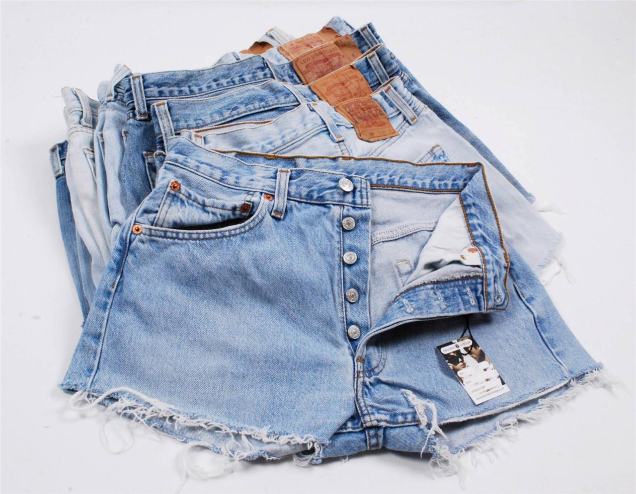 Womens Levis Denim Shorts High Waisted Hotpants Jean 6 8 10 12 14 ...