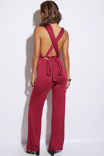 Love Sprung Burgundy Convertible Jumpsuit - JuJu's Closet