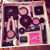 nail polish,mac cosmetics,chanel,yves saint laurent,make-up,nars cosmetics,cheek blush,jewels