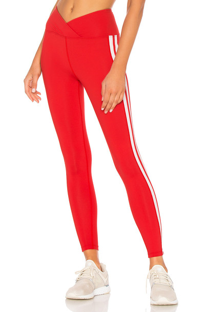 YEAR OF OURS Racer High Rise Legging in red