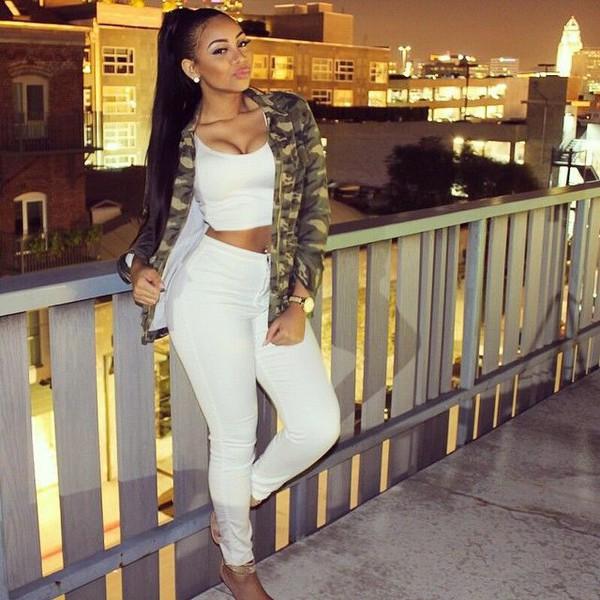 white easy jeans - Jean Yu Beauty