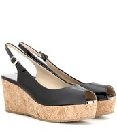 wedges,leather wedges,leather,black,shoes