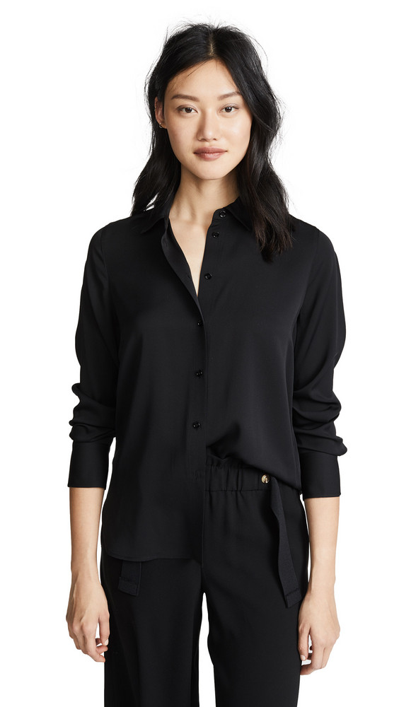 Vince Slim Fitted Blouse in black