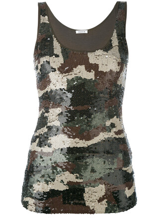 top women camouflage spandex cotton green pattern