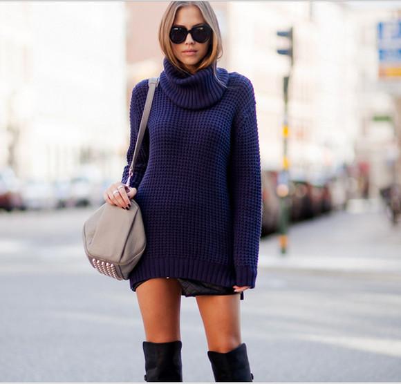 sweater blue sweater sweater weather long sweater long sweaters blue