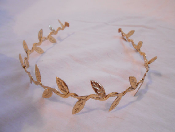 Grecian Laurel Wreath Greek Roman Leaves Headband by FlowerFair