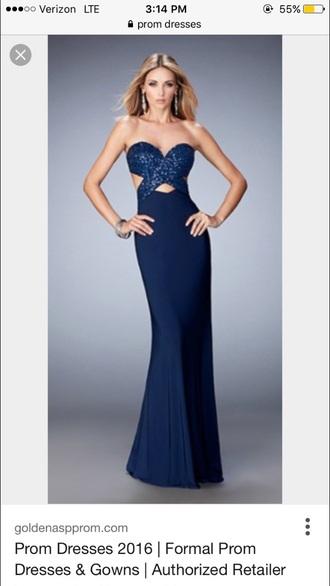 dress blue sparkle prom dress long dress strapless