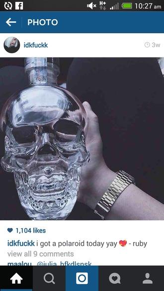 home accessory skull bottle skull bottle
