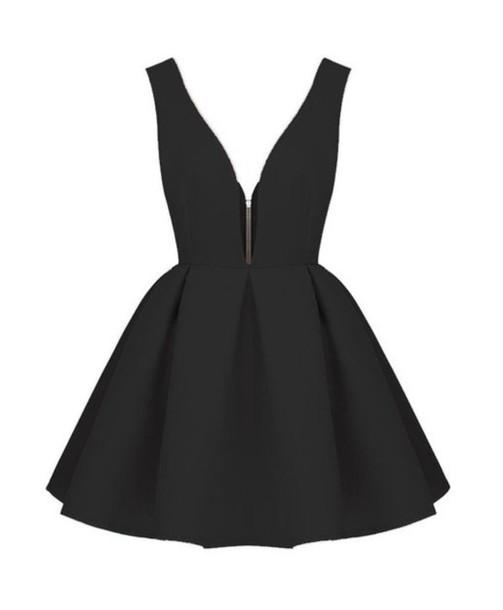 dress amazon black skater dress v nec v neck short dress backless sleeveless