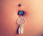 jewels,dreamcatcher,belly button ring,belly ring,navel ring,belly piercing