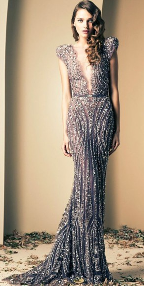 prom dress formal dress gatsby inspired sparkly