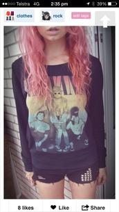 sweater,girly,grunge,nirvana,90s style