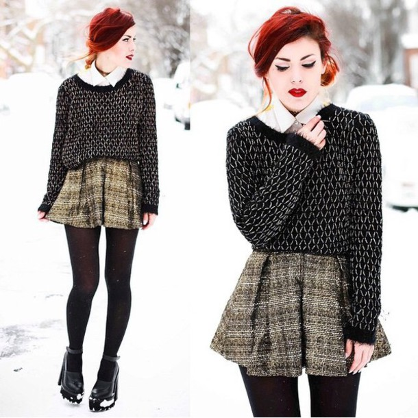 sweater skirt style winter sweater