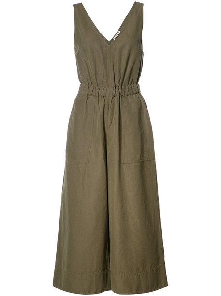 Ulla Johnson Zoe jumpsuit, Size: 6, Green, Cotton/Linen/Flax