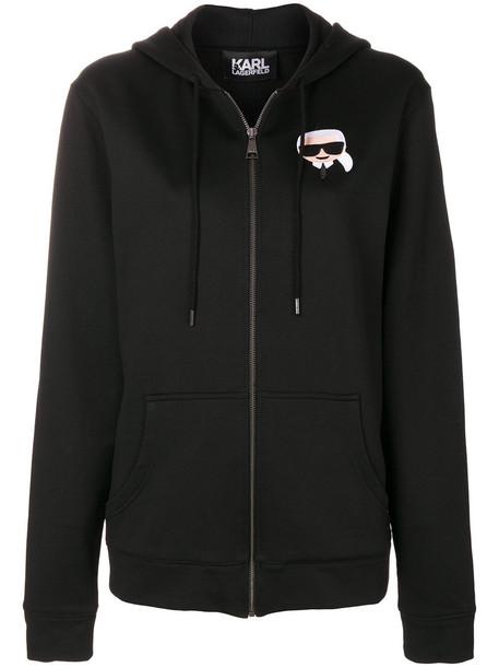 karl lagerfeld hoodie women black sweater