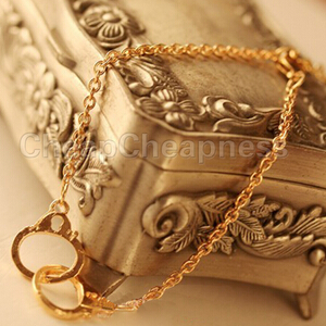 New Fashion Sexy Womens Favourite Chic Silver Gold Plated Handcuffs Twin Knots Buckle women Bracelet -in Wrap Bracelets from Jewelry on Aliexpress.com
