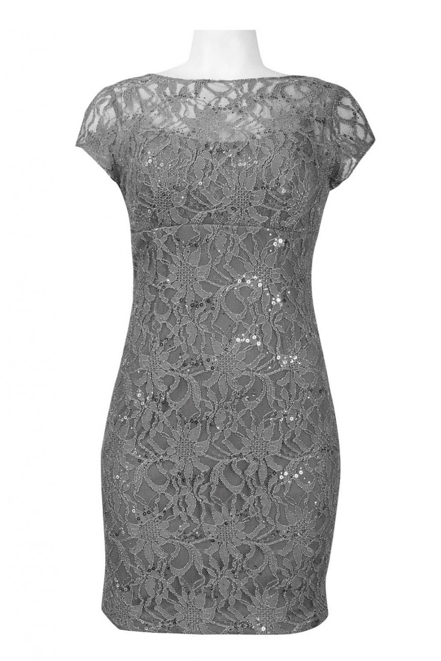 Hailey by adrianna papell 231m29040 bateau neckline lace sheath dress