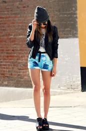 galore beneath the stars,jacket,t-shirt,sunglasses,jewels,shorts