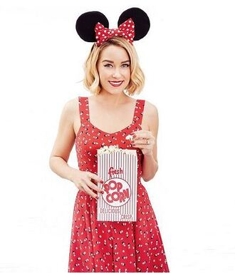 dress red dress summer dress lauren conrad minnie mouse