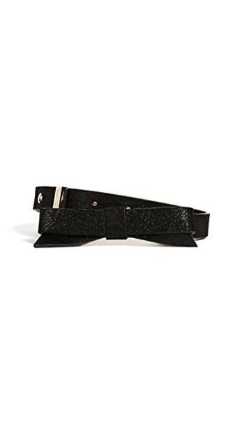 Kate Spade New York bow classic belt black
