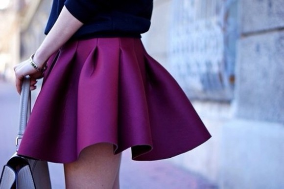 skirt fashion mini skirt red beautiful wine red